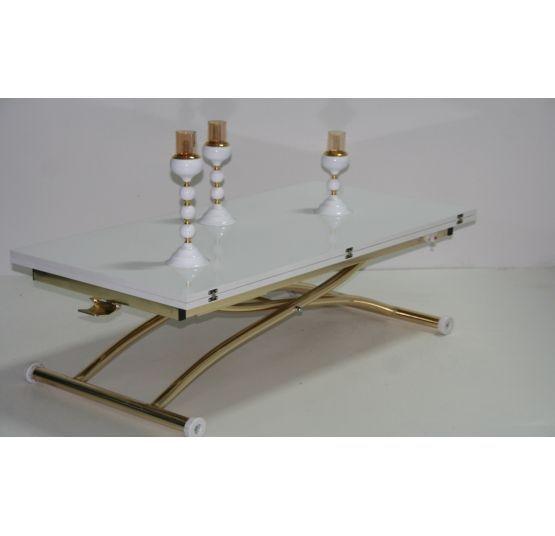 Маса с повдигащ механизъм-GOLD/WHITE